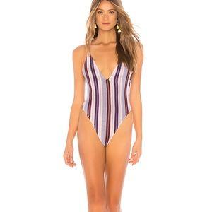 Lovewave Purple Striped One Piece